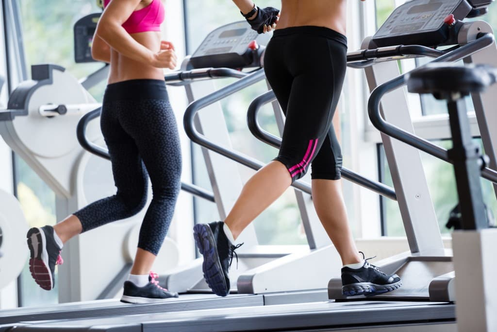 Personal Training on a Treadmill in a modern gym
